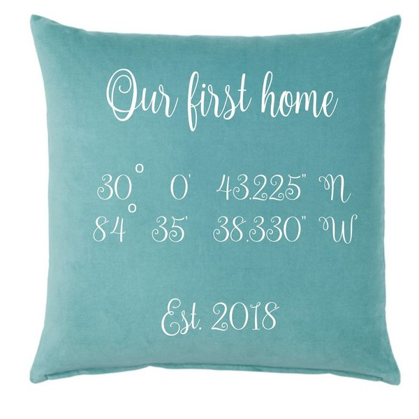 Kissen mit Koordinaten - Cushion with the coordinates of your home