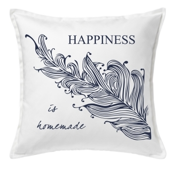 "Kissen - Cushion ""Happiness is homemade"""