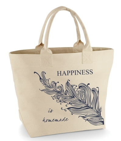 "Shopper - Tasche ""Happiness is homemade"""
