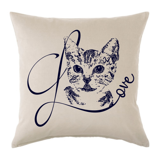 "Kissen ""Love"" mit Bild vom Haustier - Cushion ""Love"" with picture of your pet"